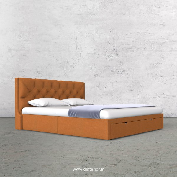 Scorpius King Size Storage Bed in Cotton Plain - KBD001 CP21