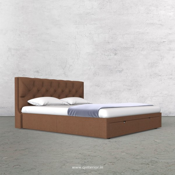 Scorpius King Size Storage Bed in Cotton Plain - KBD001 CP22