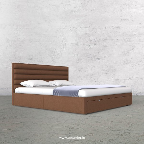 Crux Queen Storage Bed in Cotton Plain - QBD001 CP22