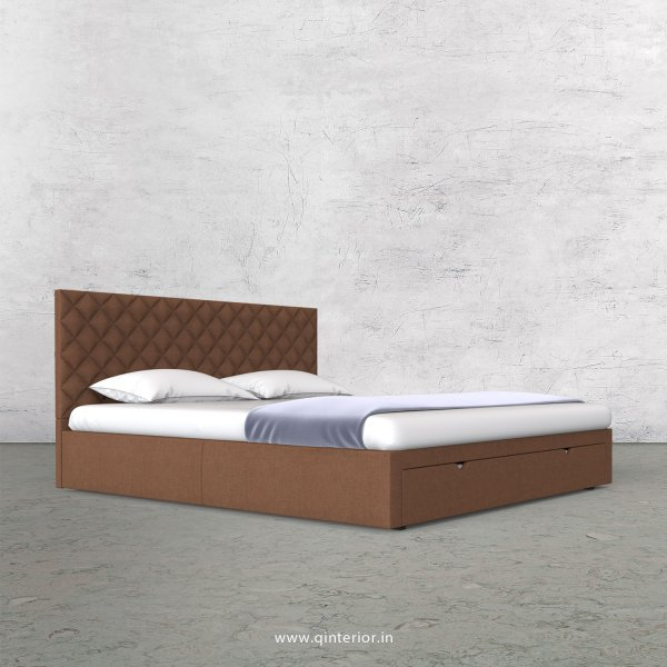 Aquila Queen Storage Bed in Cotton Plain - QBD001 CP22