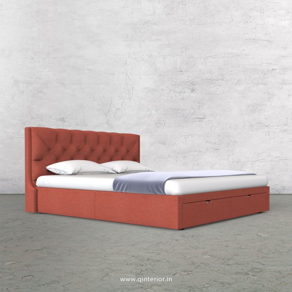 Scorpius King Size Storage Bed in Cotton Plain - KBD001 CP23