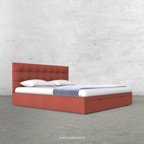 Lyra Queen Storage Bed in Cotton Plain - QBD001 CP23
