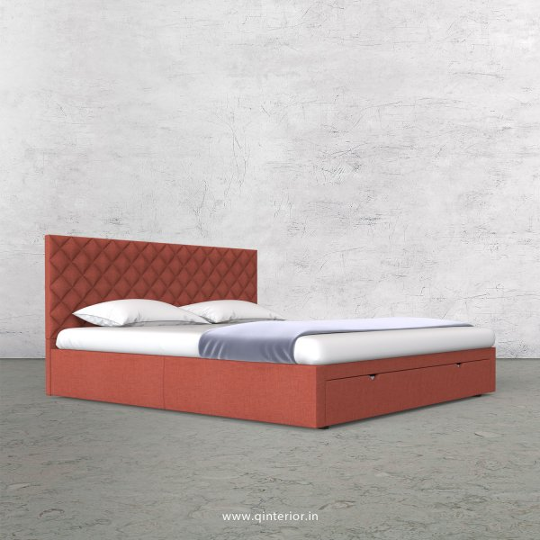 Aquila Queen Storage Bed in Cotton Plain - QBD001 CP23