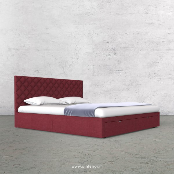 Aquila King Size Storage Bed in Cotton Plain - KBD001 CP24