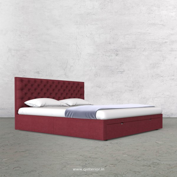 Orion Queen Storage Bed in Cotton Plain - QBD001 CP24