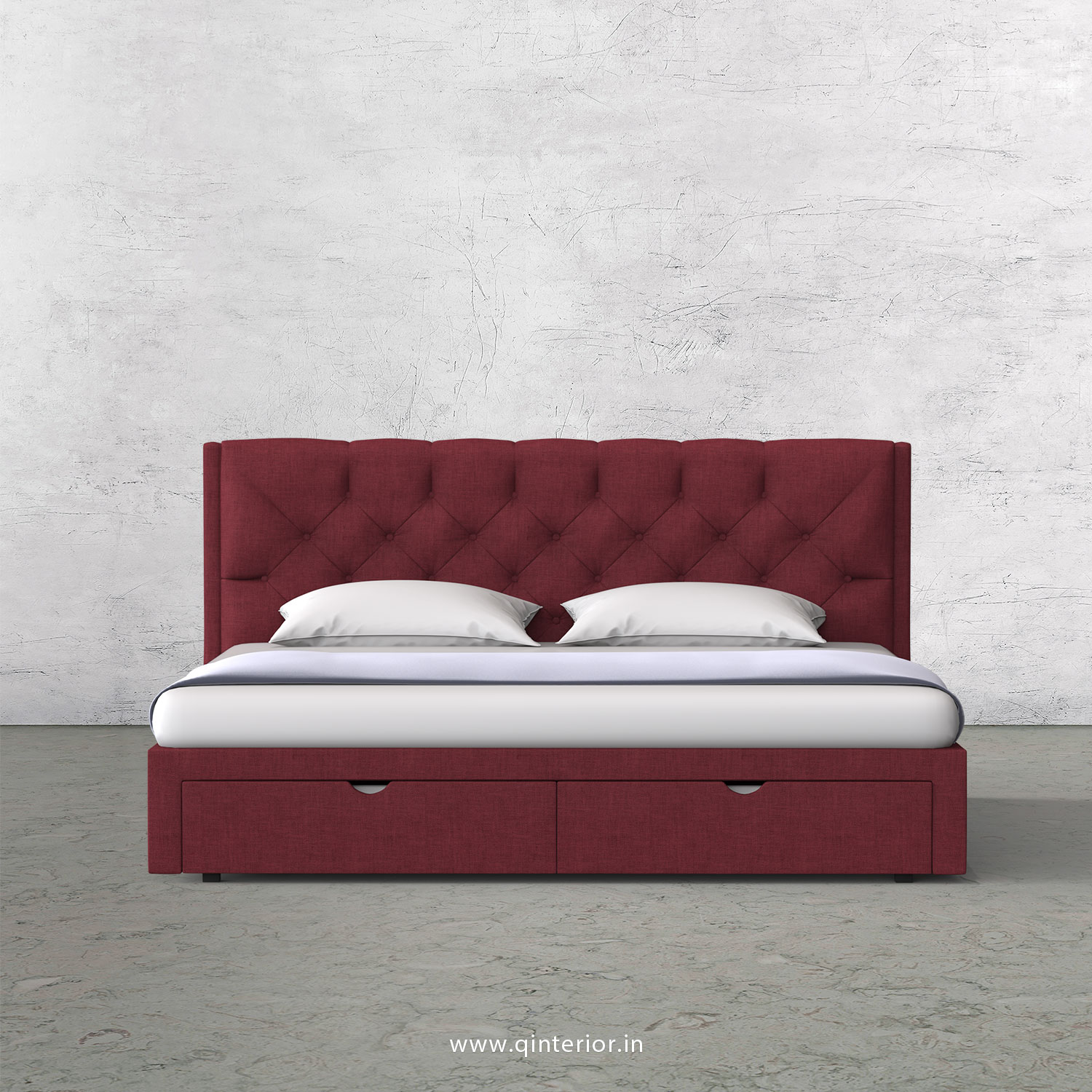Scorpius King Size Storage Bed in Cotton Plain - KBD001 CP24
