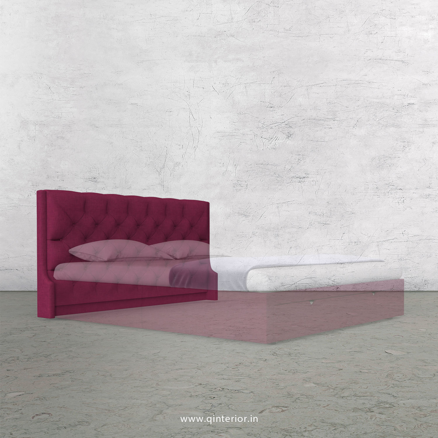 Scorpius Bed Headboard in Cotton Plain - BHB002 CP25
