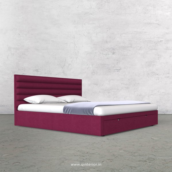 Crux King Size Storage Bed in Cotton Plain - KBD001 CP25