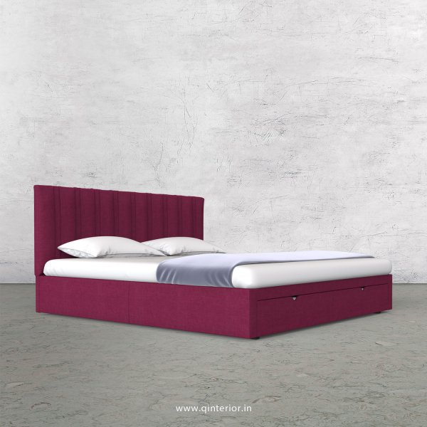 Leo King Size Storage Bed in Cotton Plain - KBD001 CP25