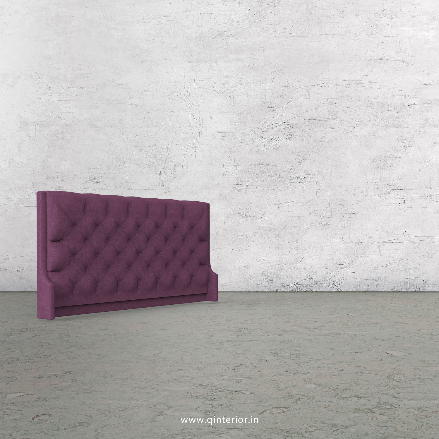 Scorpius Bed Headboard in Cotton Plain - BHB002 CP26