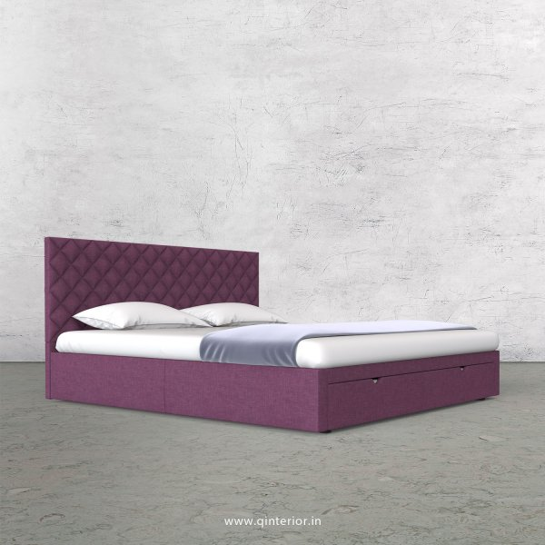 Aquila Queen Storage Bed in Cotton Plain - QBD001 CP24