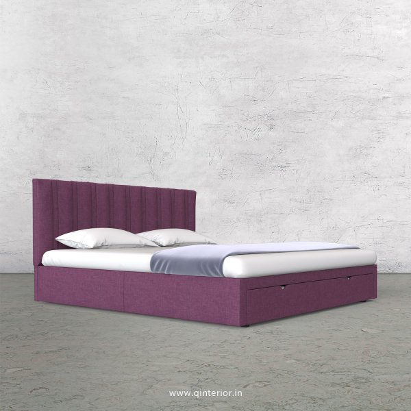 Leo King Size Storage Bed in Cotton Plain - KBD001 CP26