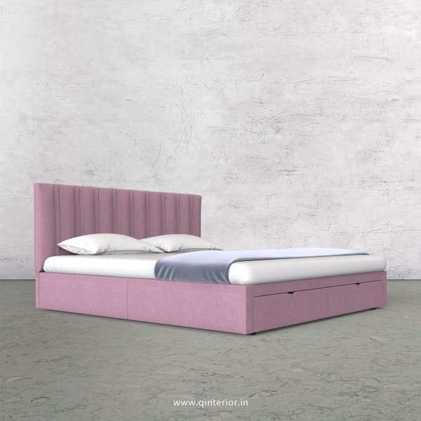 Leo Queen Storage Bed in Cotton Plain - QBD001 CP27