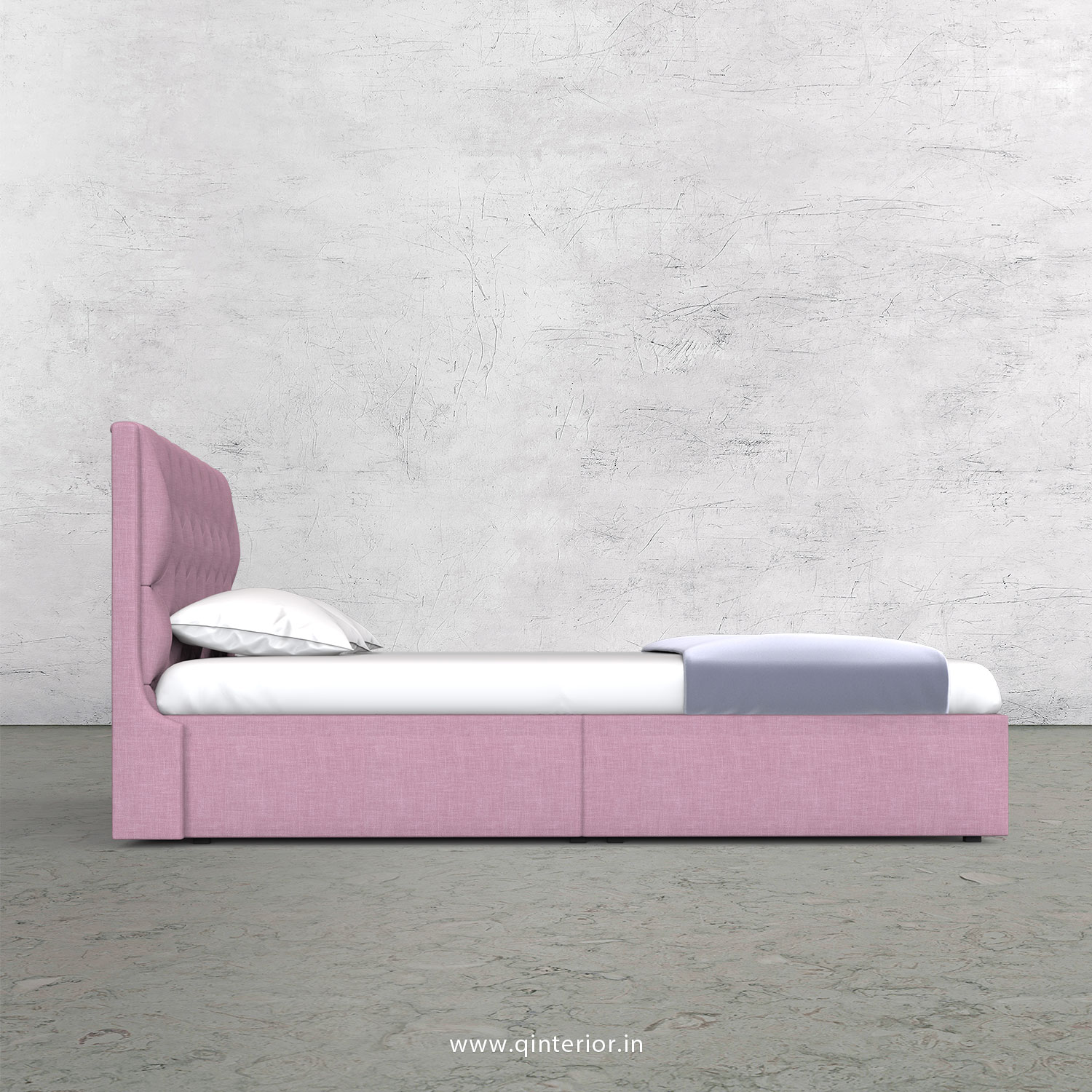 Scorpius King Size Storage Bed in Cotton Plain - KBD001 CP27