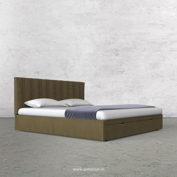 Leo King Size Storage Bed in Fab Leather Fabric - KBD001 FL01
