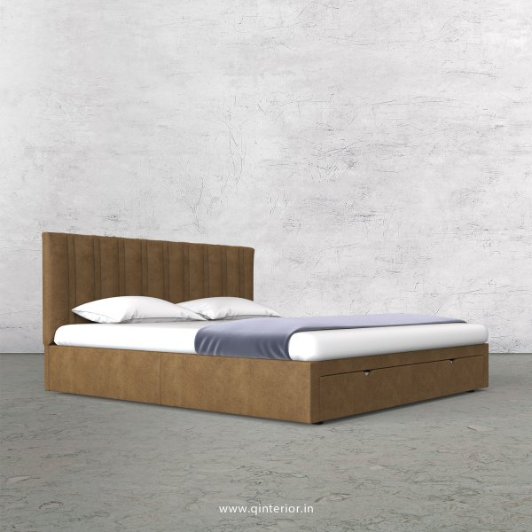 Leo King Size Storage Bed in Fab Leather Fabric - KBD001 FL02