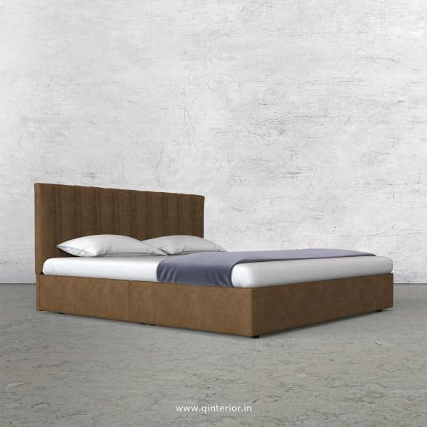 Leo King Size Bed in Fab Leather Fabric - KBD009 FL02