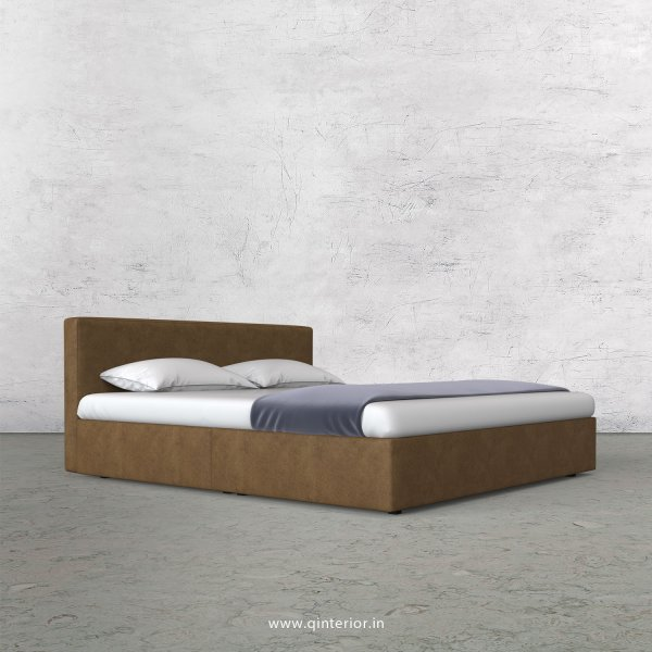 Nirvana King Size Bed in Fab Leather Fabric - KBD009 FL02