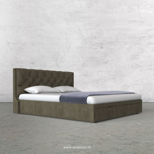 Scorpius Queen Storage Bed in Fab Leather Fabric - QBD001 FL03