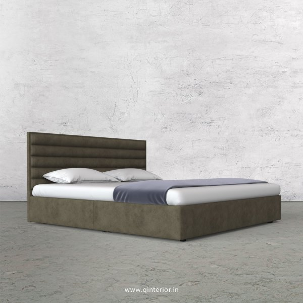 Crux King Size Bed in Fab Leather Fabric - KBD009 FL03