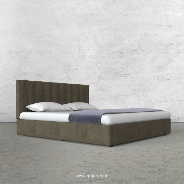 Leo King Size Bed in Fab Leather Fabric - KBD009 FL03