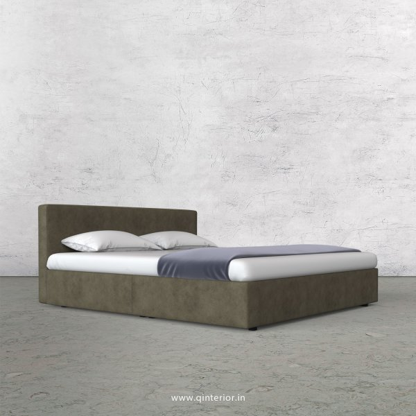 Nirvana Queen Bed in Fab Leather Fabric - QBD009 FL03