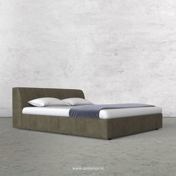 Luxura King Size Bed in Fab Leather Fabric - KBD009 FL03