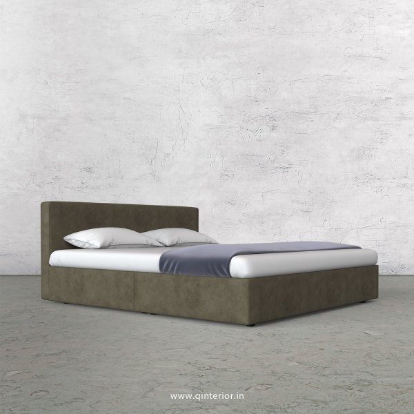 Nirvana King Size Bed in Fab Leather Fabric - KBD009 FL03