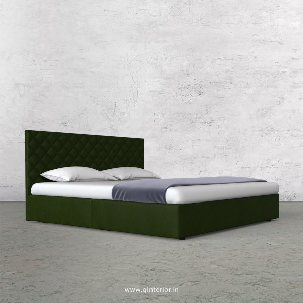 Aquila King Size Bed in Fab Leather Fabric - KBD009 FL04