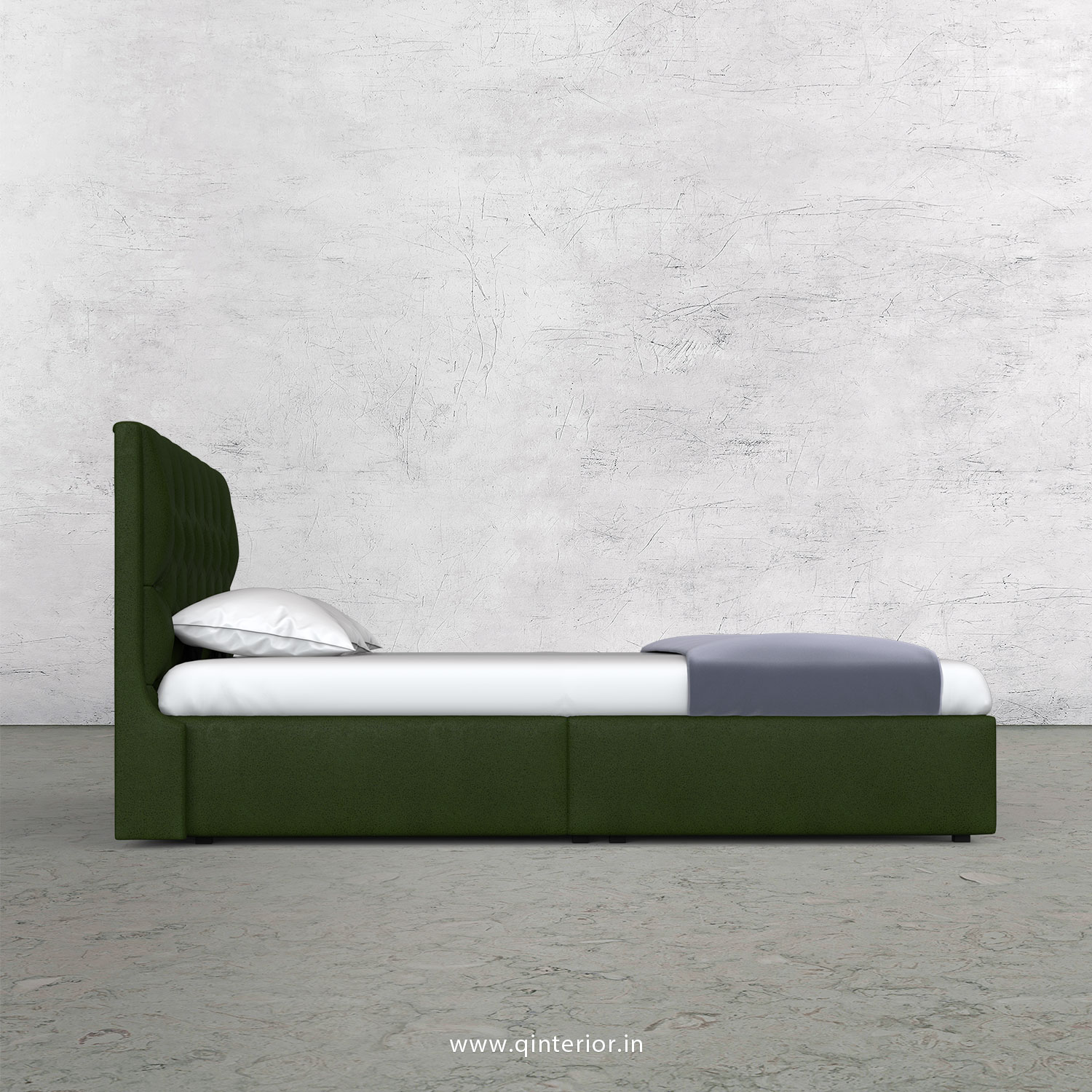 Scorpius Queen Bed in Fab Leather Fabric - QBD009 FL04