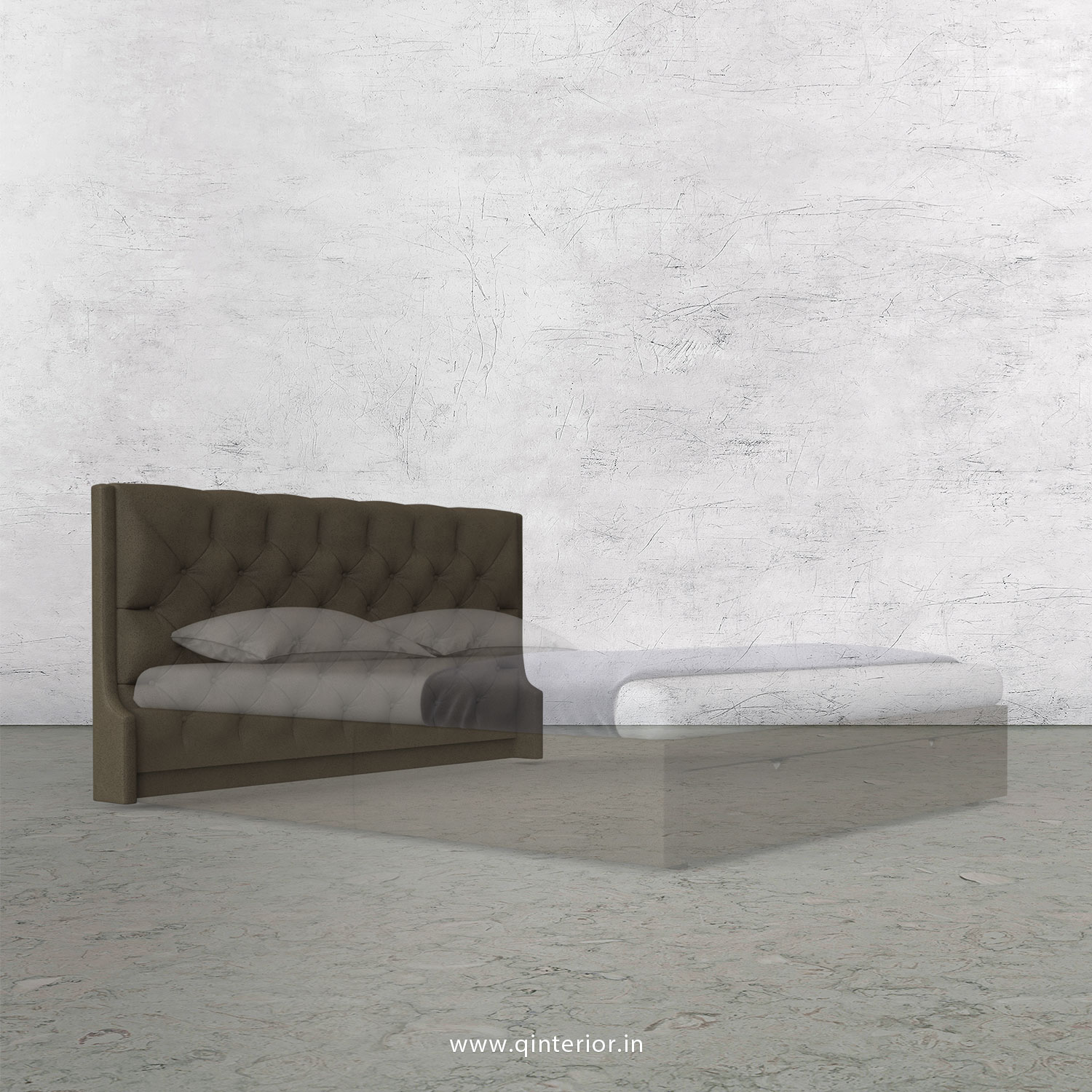 Scorpius Bed Headboard in Fab Leather Fabric - BHB002 FL06