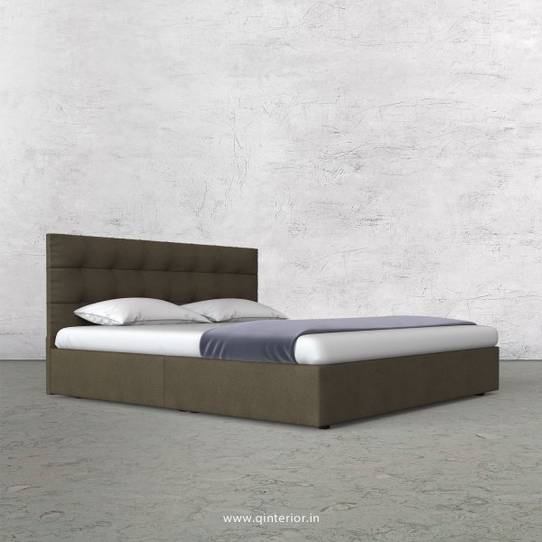 Lyra Queen Bed in Fab Leather Fabric - QBD009 FL06