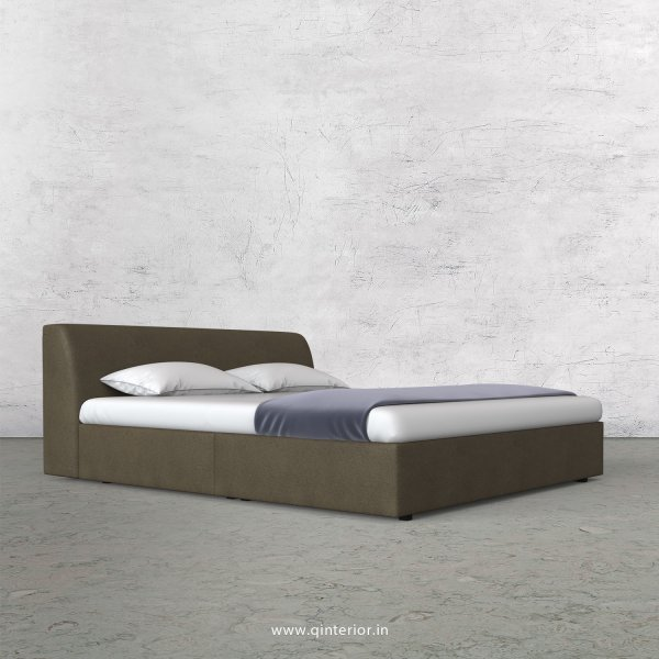 Luxura King Size Bed in Fab Leather Fabric - KBD009 FL06