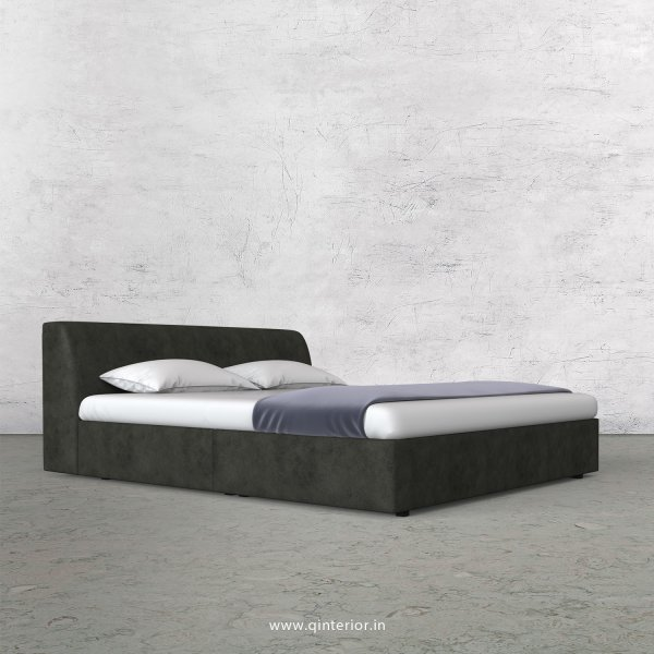 Luxura King Size Bed in Fab Leather Fabric - KBD009 FL07