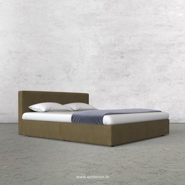 Nirvana King Size Bed in Fab Leather Fabric - KBD009 FL01
