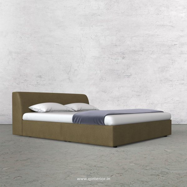Luxura King Size Bed in Fab Leather Fabric - KBD009 FL01
