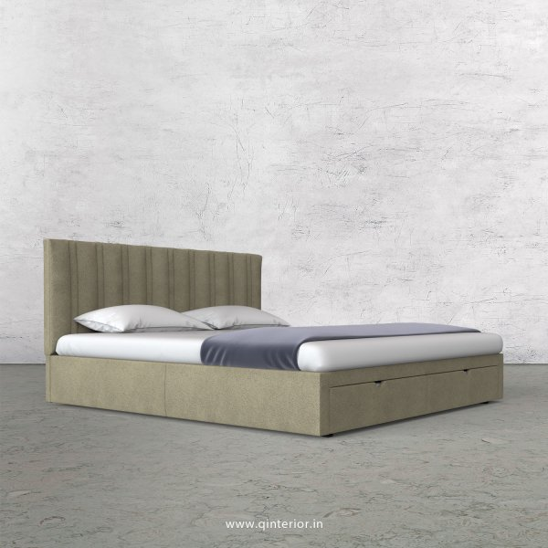 Leo Queen Storage Bed in Fab Leather Fabric - QBD001 FL10