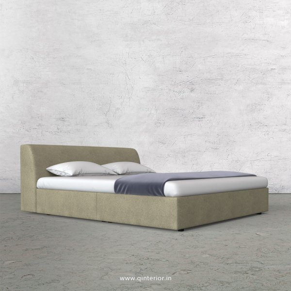 Luxura King Size Bed in Fab Leather Fabric - KBD009 FL10