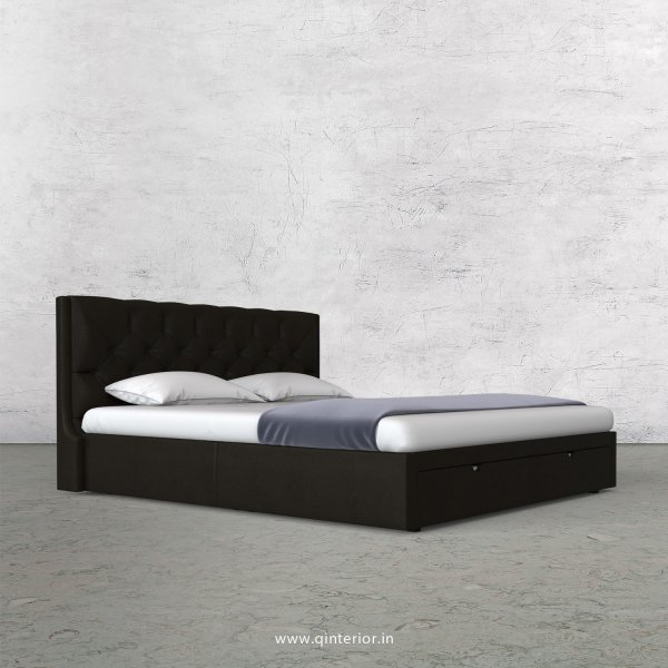 Scorpius King Size Storage Bed in Fab Leather Fabric - KBD001 FL11