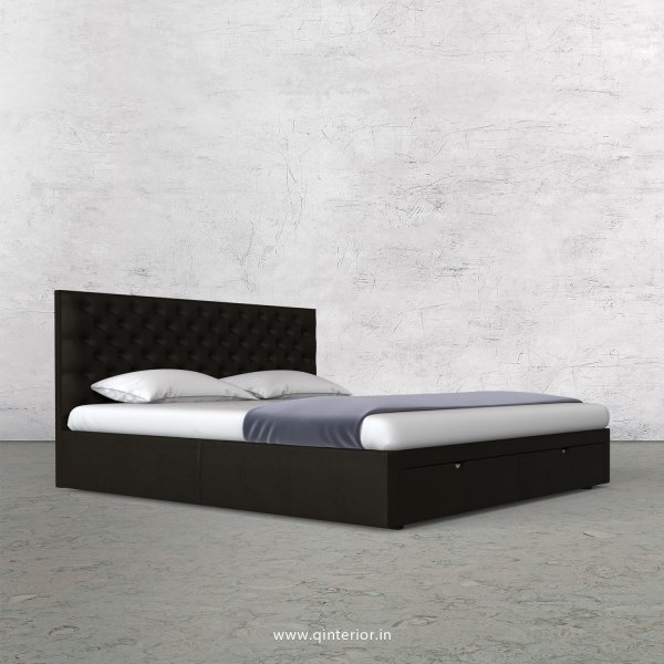 Orion Queen Storage Bed in Fab Leather Fabric - QBD001 FL11
