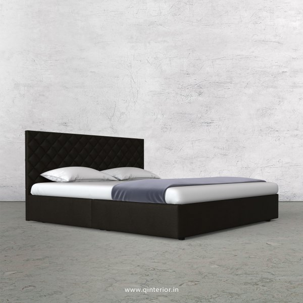 Aquila King Size Bed in Fab Leather Fabric - KBD009 FL11