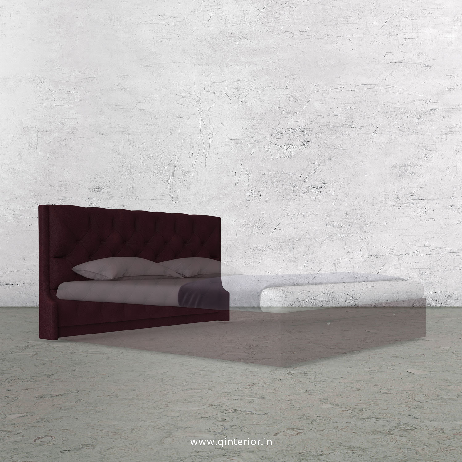 Scorpius Bed Headboard in Fab Leather Fabric - BHB002 FL12