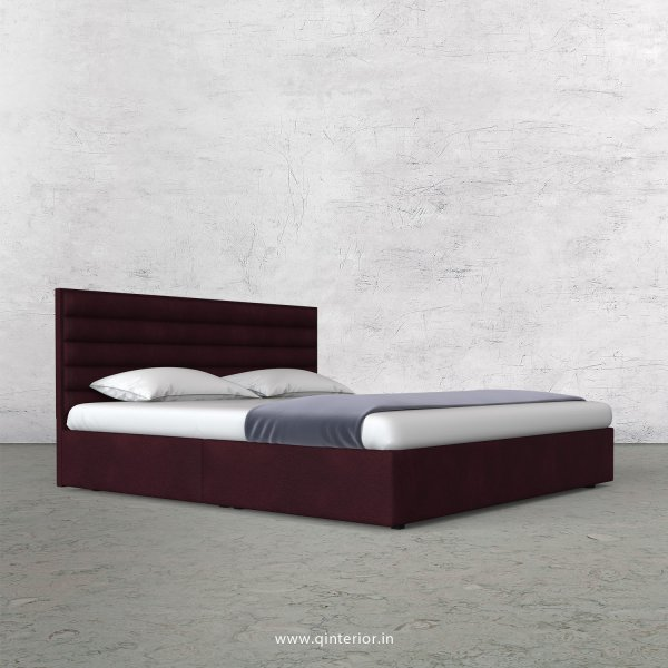 Crux King Size Bed in Fab Leather Fabric - KBD009 FL12