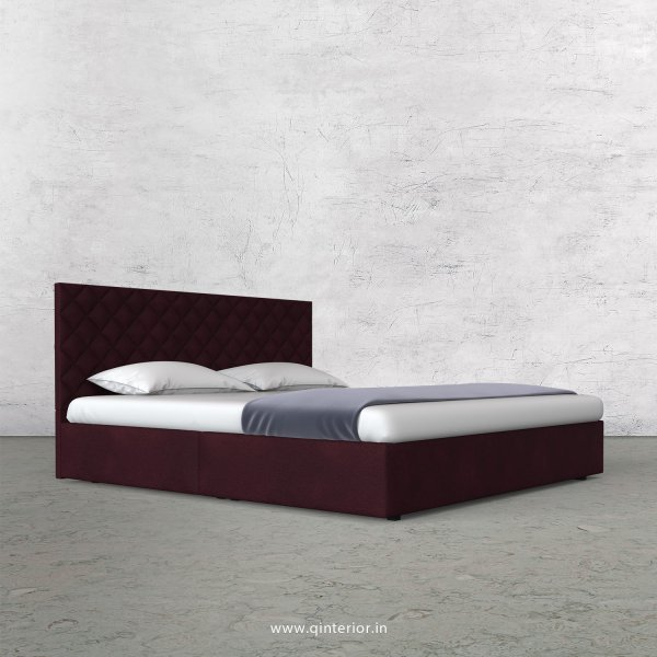 Aquila King Size Bed in Fab Leather Fabric - KBD009 FL12