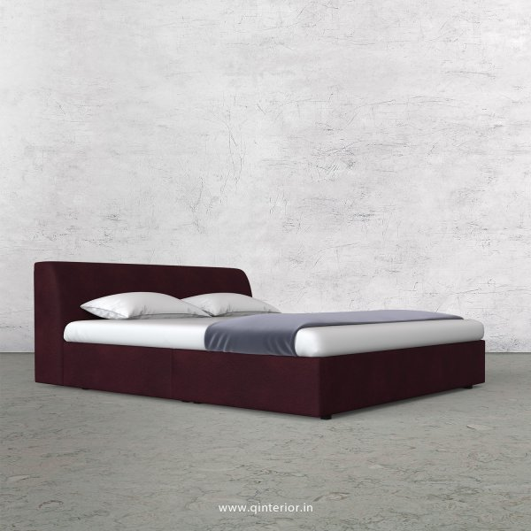 Luxura Queen Sized Bed in Fab Leather Fabric - QBD009 FL12
