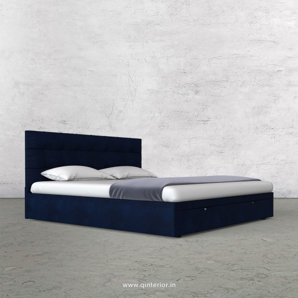 Lyra King Size Storage Bed in Fab Leather Fabric - KBD001 FL13