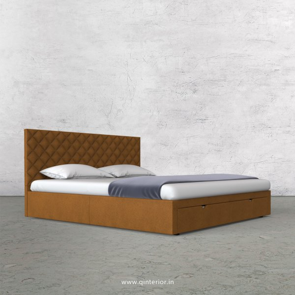 Aquila King Size Storage Bed in Fab Leather Fabric - KBD001 FL14