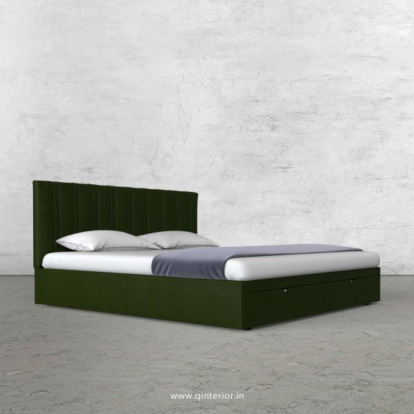 Leo Queen Storage Bed in Fab Leather Fabric - QBD001 FL04