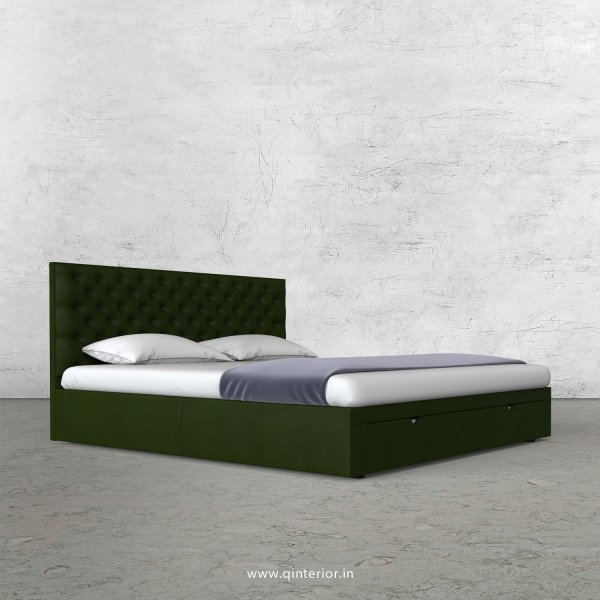 Orion King Size Storage Bed in Fab Leather Fabric - KBD001 FL04