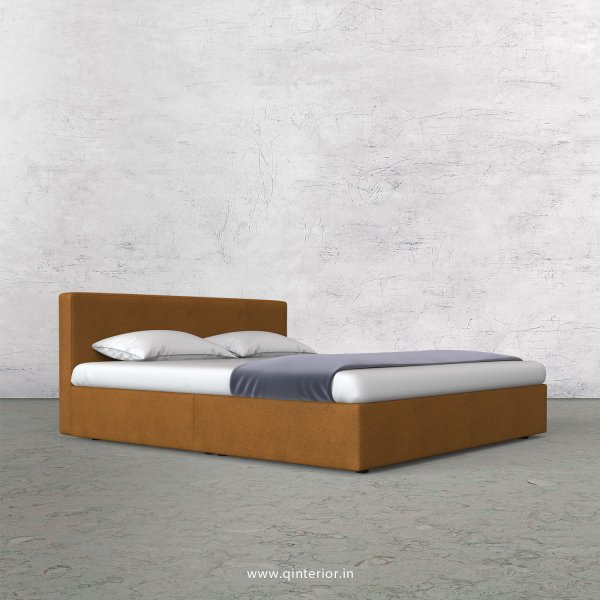 Nirvana King Size Bed in Fab Leather Fabric - KBD009 FL14